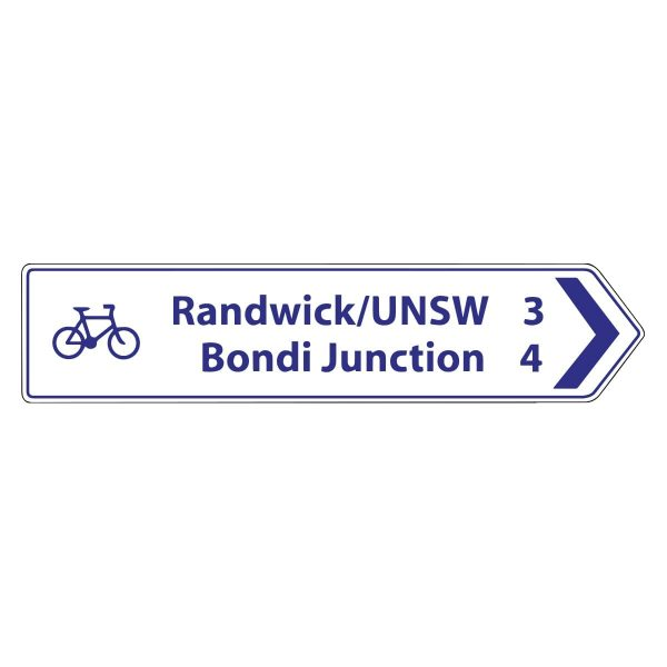 Intersection Fingerboard Bicycle Route (2 line - right)
