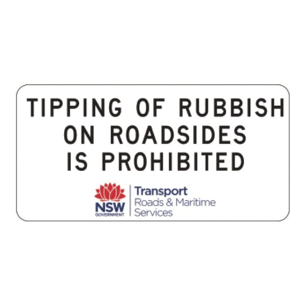 Tipping of Rubbish on Roadsides is Prohibited