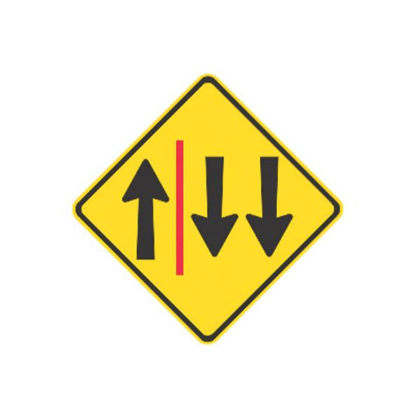 One & Two Lane each Direction with Barrier
