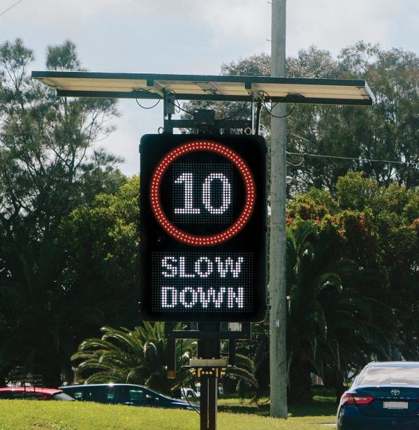 Variable Speed Limit LED Sign